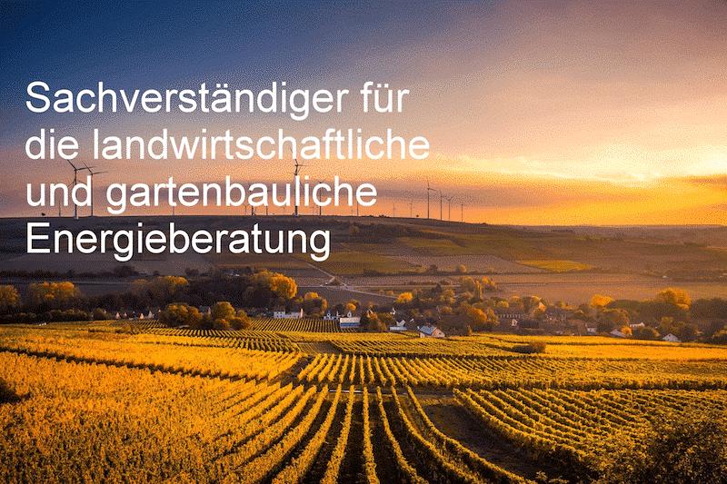 Michael Wühle, Sachverständiger der Bundesanstalt für Landwirtschaft und Ernährung (BLE) für die Energieberatung in Landwirtschaft und Gartenbau.